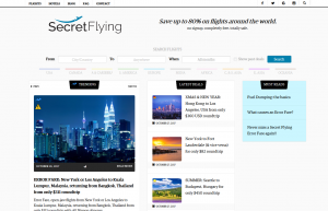 Secret Flying cheap flight search website