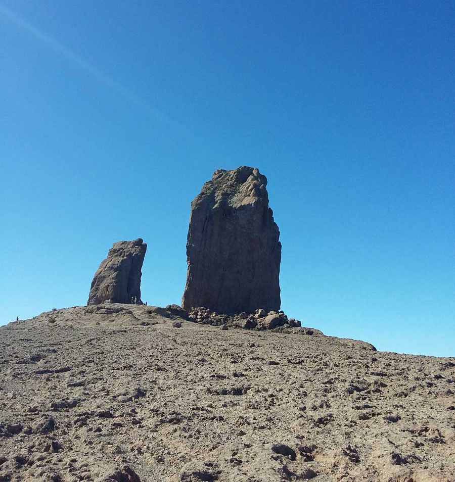 Roque Nublo is a 70m tall volcanic monolith